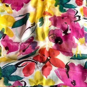 Cheery floral wrap scarf
